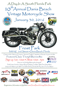 Dania Beach Vintage Motorcycle Show 2015
